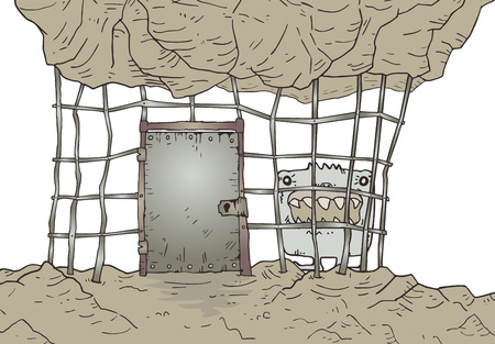 old jail illustration