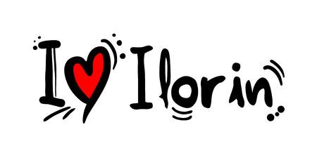 Ilorin city of Nigeria love message Illustration