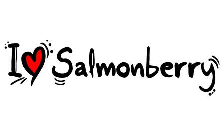Salmonberry love message