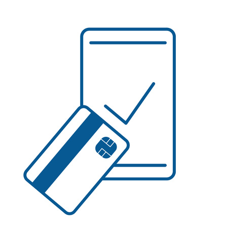 smartphone pay check icon