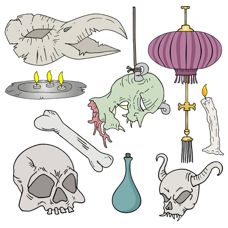 set of witchcraft elements Ilustrace