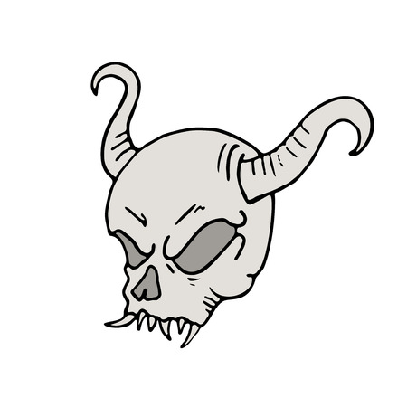 demon skull draw