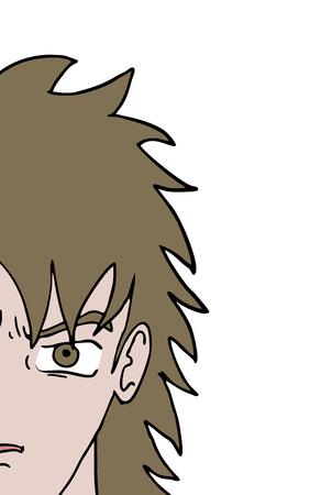 half cartoon face Illustration