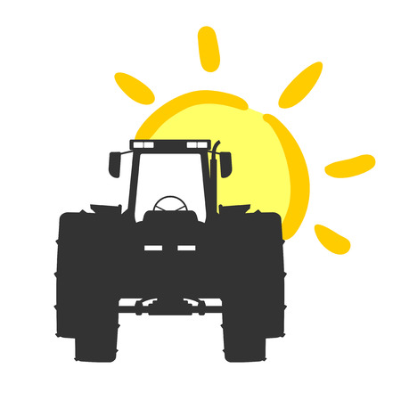 Creative tractor illustration