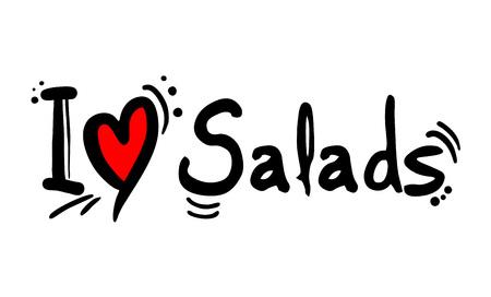 salads love message Çizim