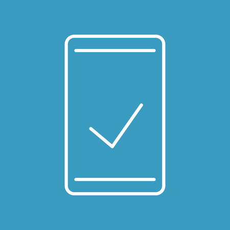 Smartphone check flat icon