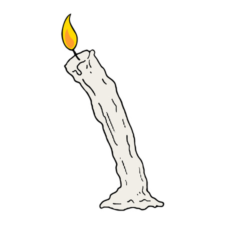 Candle hand draw design Ilustrace
