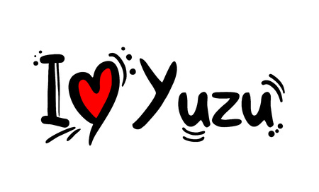 Yuzu love message Çizim