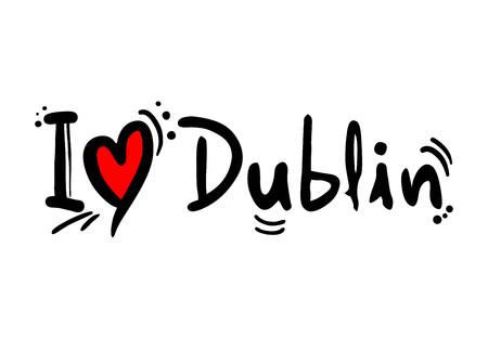 Dublin city of Ireland