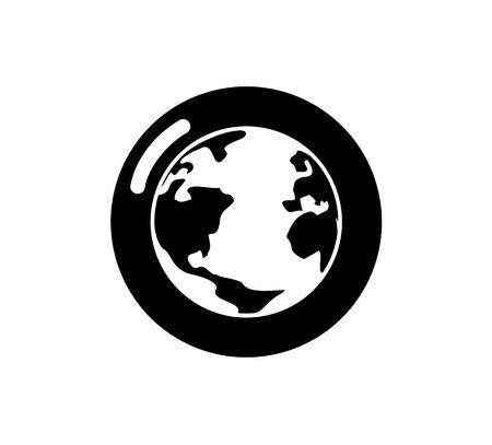 flat planet icon