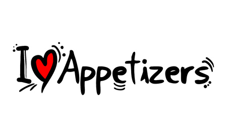 Appetizers love message Vectores