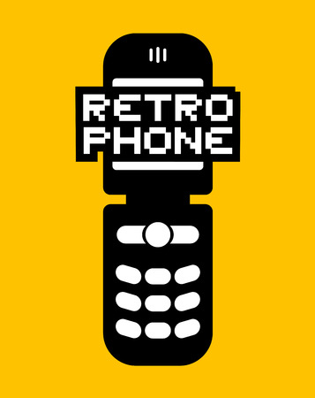 retro phone illustration Ilustrace