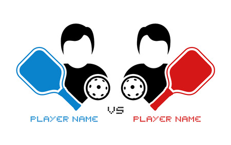 Pickleball match illustration