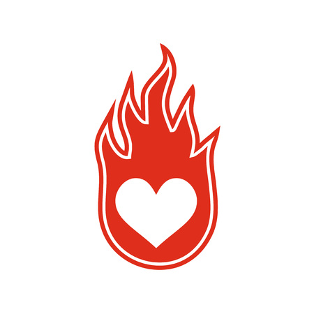 passion fire heart icon