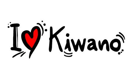 Kiwano fruit love message Illustration