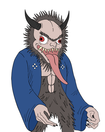 animal demon with long tongue