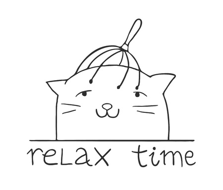 funny cat in relax moment Stok Fotoğraf - 127343694
