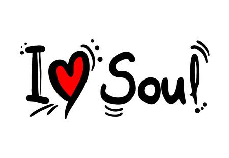 Amor al estilo de la música soul Ilustración de vector