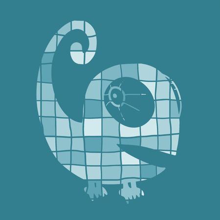 Imaginative chameleon illustration Ilustração