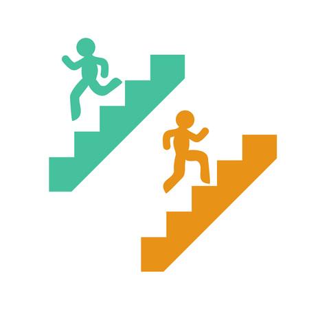 symboles de montée et descente des escaliers Vecteurs