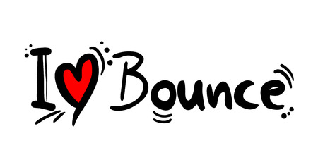 Bounce music style love Illustration