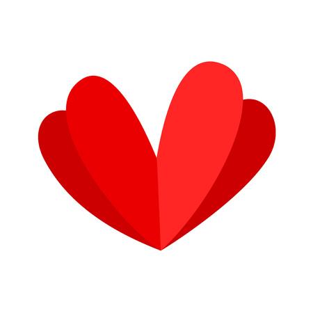fantasievolles Herzdesign Vektorgrafik