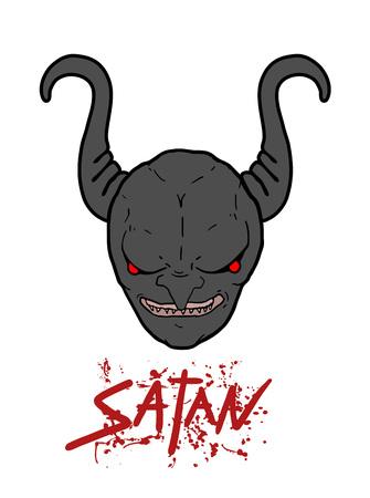 terror satanic head