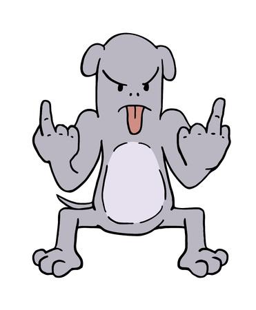 dibujo de perro enojado