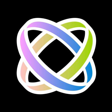 imaginative corporate union symbol Ilustração