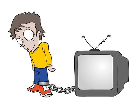 trapped for television 일러스트