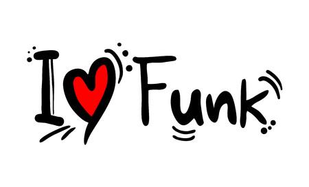 Funk music style love