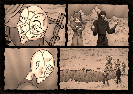 imaginative comic scene illustration Imagens