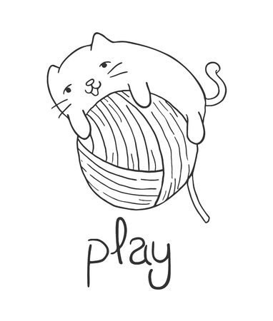 cat playing draw