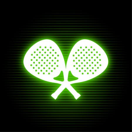 padel neon sport symbol
