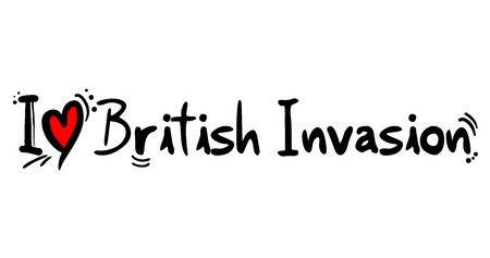 British Invasion music style Vettoriali