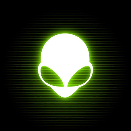 neon alien symbol 矢量图像