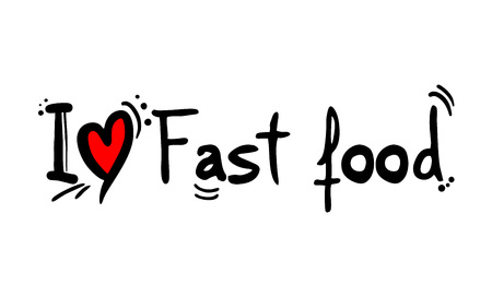 fast food love message Çizim