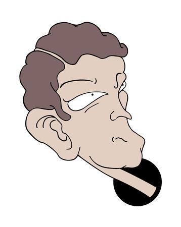 curisosity man illustration
