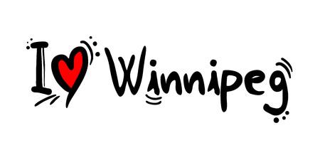 Winnipeg, city of Canada love message