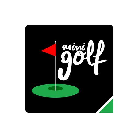 mini golf icon 일러스트