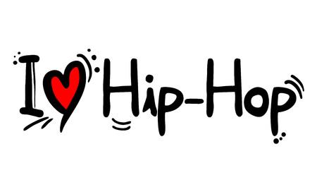 Liebe zum Hip-Hop-Musikstil Vektorgrafik