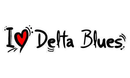 Delta Blues music style love