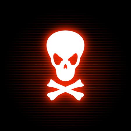 poison neon symbol