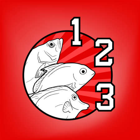 Fishes and one, two and three numbers