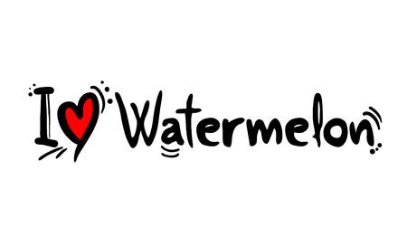 Watermelon love message Çizim