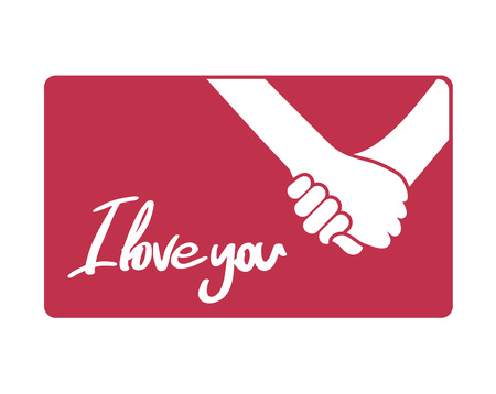 hands in love and I love you message