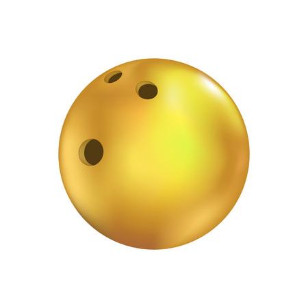 gelbe Bowlingkugel ziehen