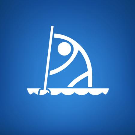 canoeing flat icon Illustration