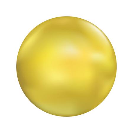 smooth marble ball illustration Illustration