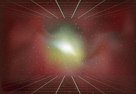 Dimensional universe background Illustration